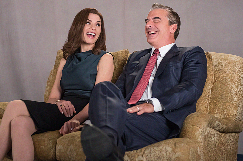 Alicia and Peter share a laugh during their interview