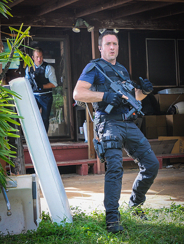 16. Detective Steve McGarrett can't right now, and no amount of gunfire will help the situation.