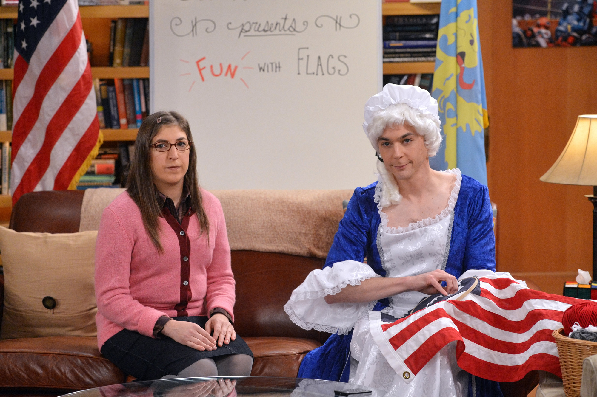 "Amy and Sheldon host ""Fun with Flags"""