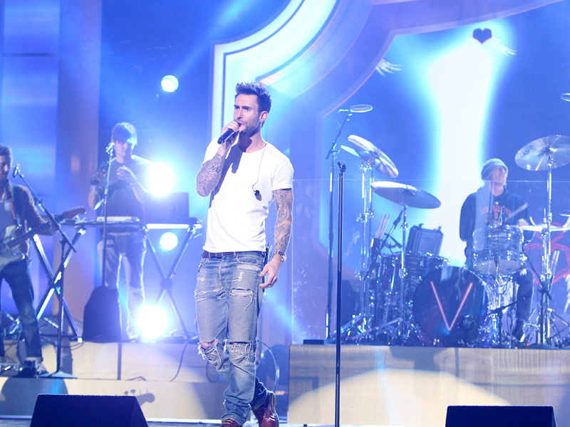 "2. Adam Levine shows off his ""Moves Like Jagger."""