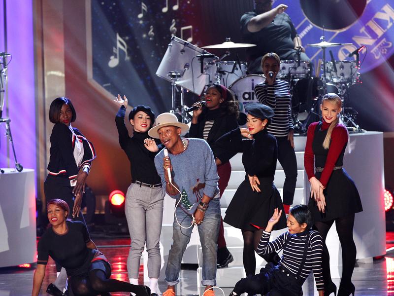 "Pharrell Williams makes everyone ""Happy"""