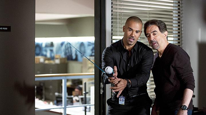 Rossi taught Morgan how to fish. - <em>Criminal Minds</em>