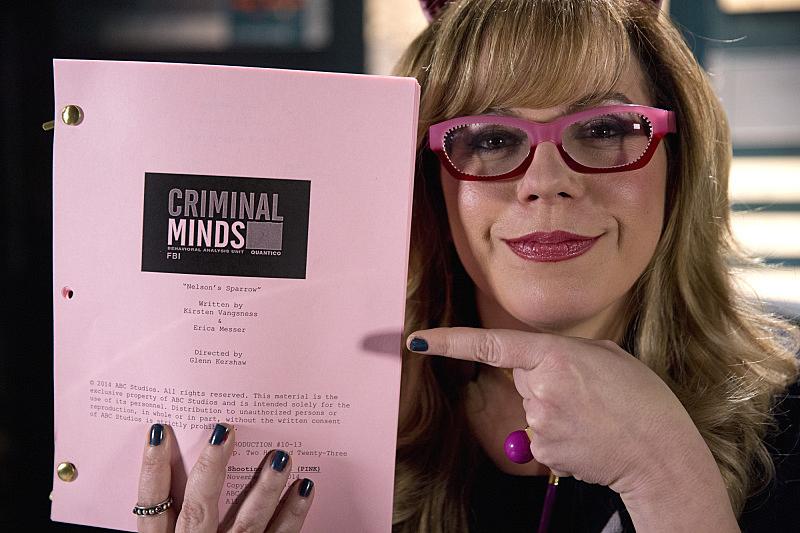 9. Kirsten Vangsness co-wrote an episode - Criminal Minds