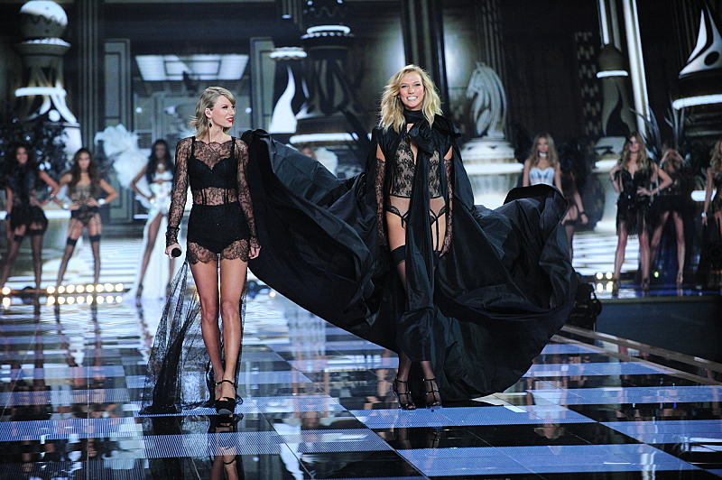 Back for more! Taylor Swift struts her stuff down the catwalk.