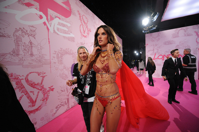 2. Alessandra Ambrosio ready to show off one of the Fantasy Bras