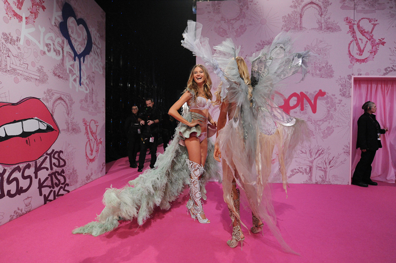 9. Behati Prinsloo Backstage at the Victoria's Secret Fashion Show