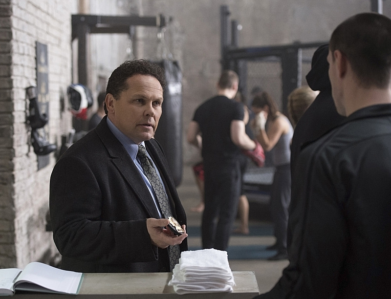 Fusco at the boxing gym?
