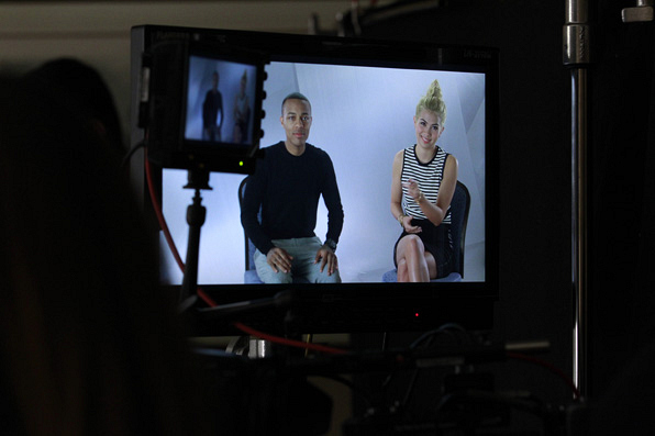 Stars of CSI: Cyber answer questions