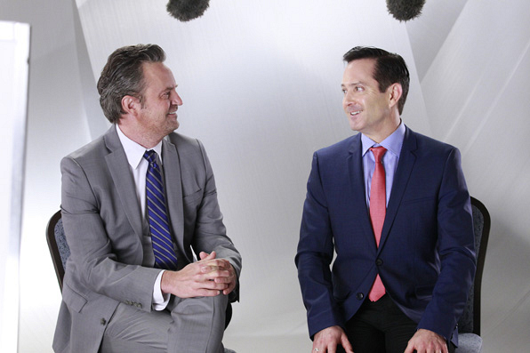 Stars from The Odd Couple enjoying the moment