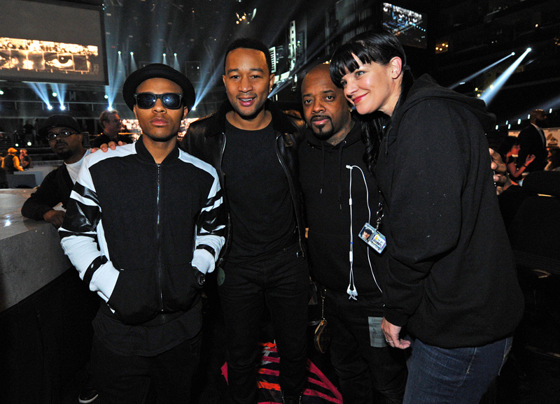 Shad Moss, John Legend, Jermaine Dupri and Pauley Perrette