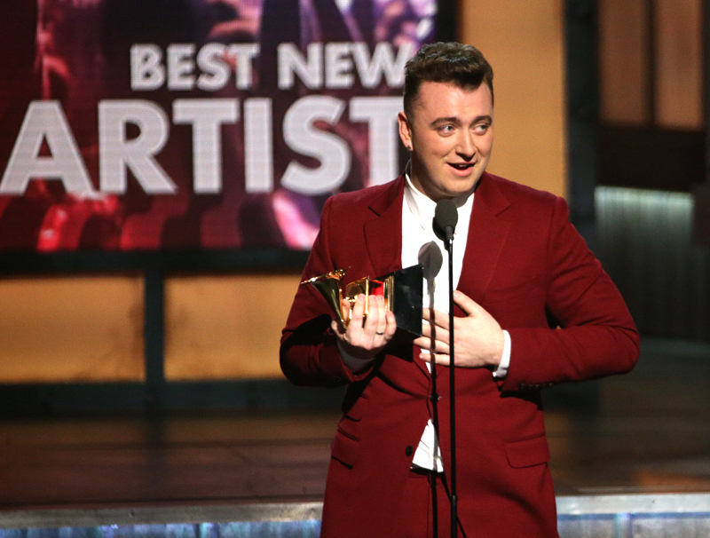 "Sam Smith, winner of ""Best New Artist"" Award"