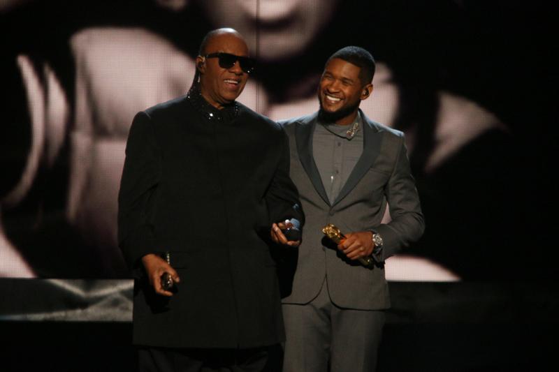 Stevie Wonder and Usher