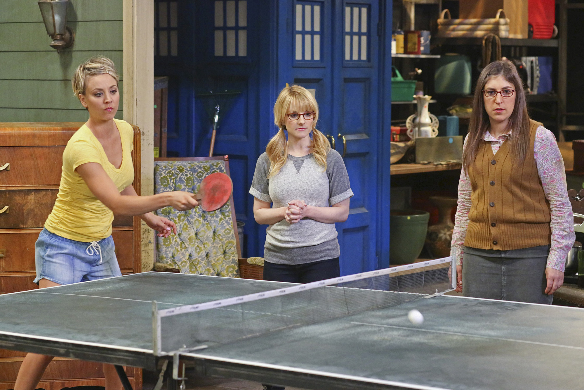 Just three ladies and a ping pong table