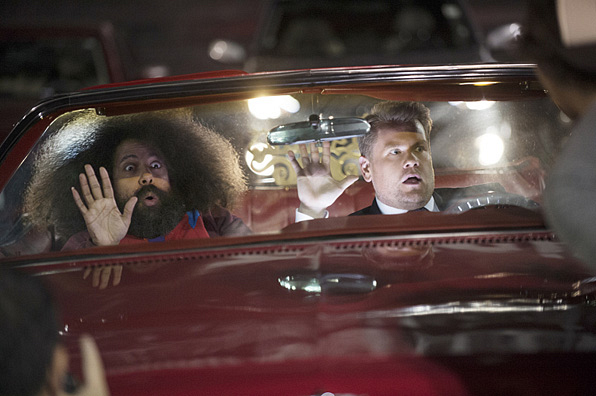 5. James Corden and Reggie Watts. Can. Not. Right. Now.