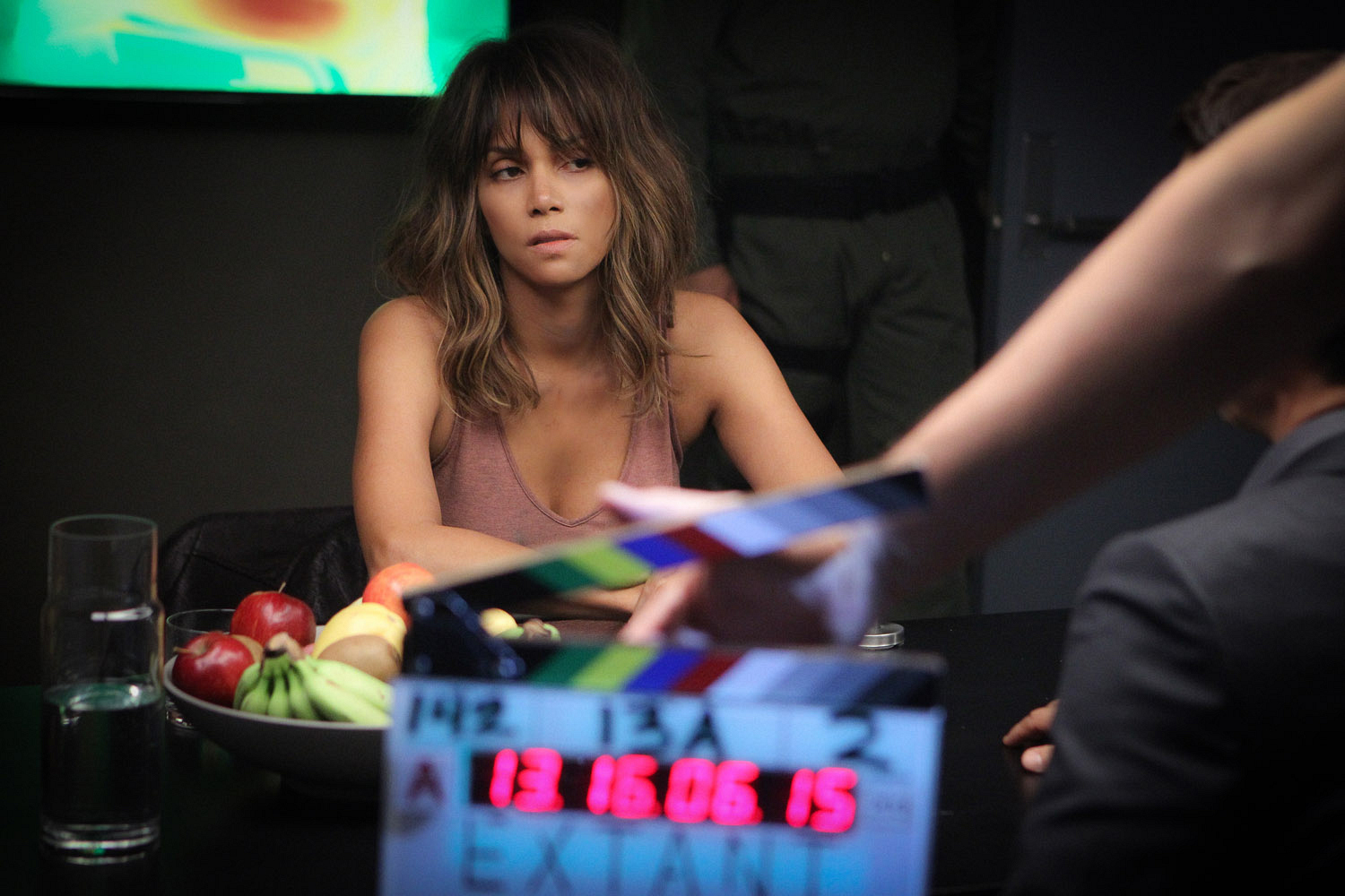 Halle Berry in an intense scene.