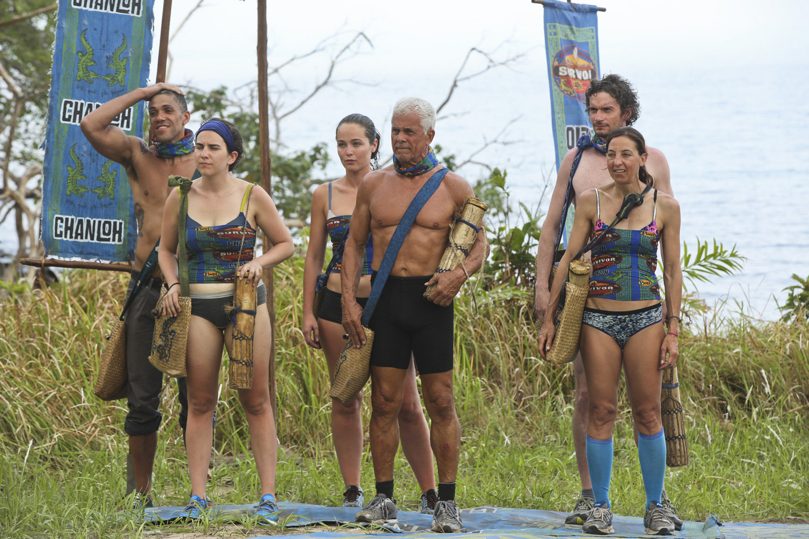 Jeff Probst tells the tribes what rewards are in store after their first Challenge.