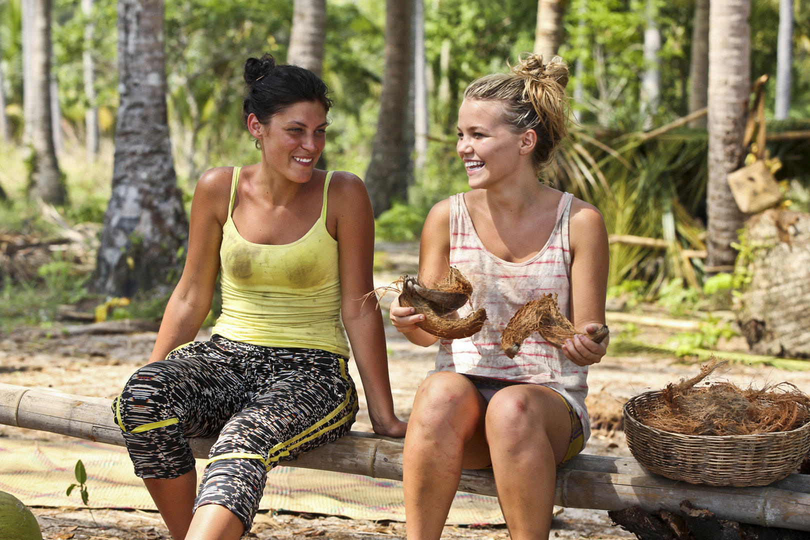Michele and Julia get close in the second episode of Survivor: Kaoh Rong.