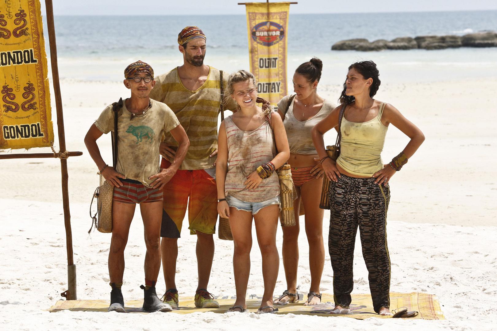 Tai, Nick, Julia, Anna, and Michele await Jeff's big news.