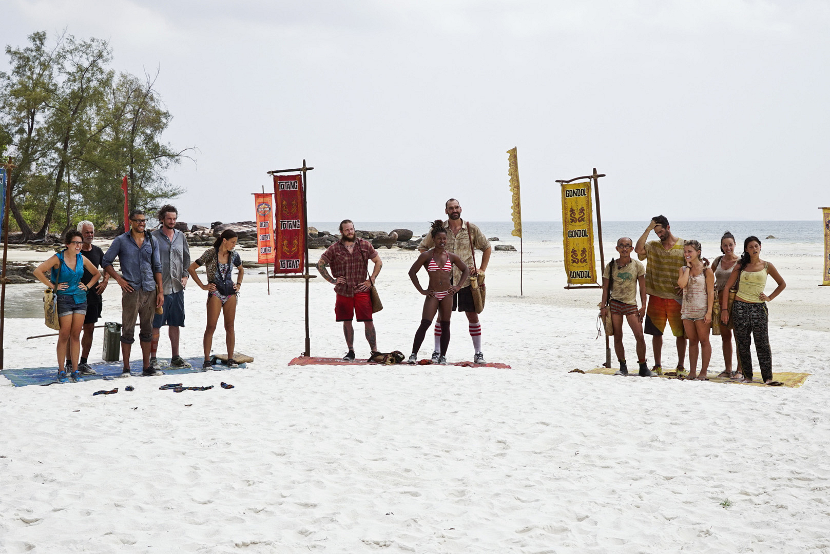 The castaways of Survivor: Kaoh Rong get ready for a big moment in the game.