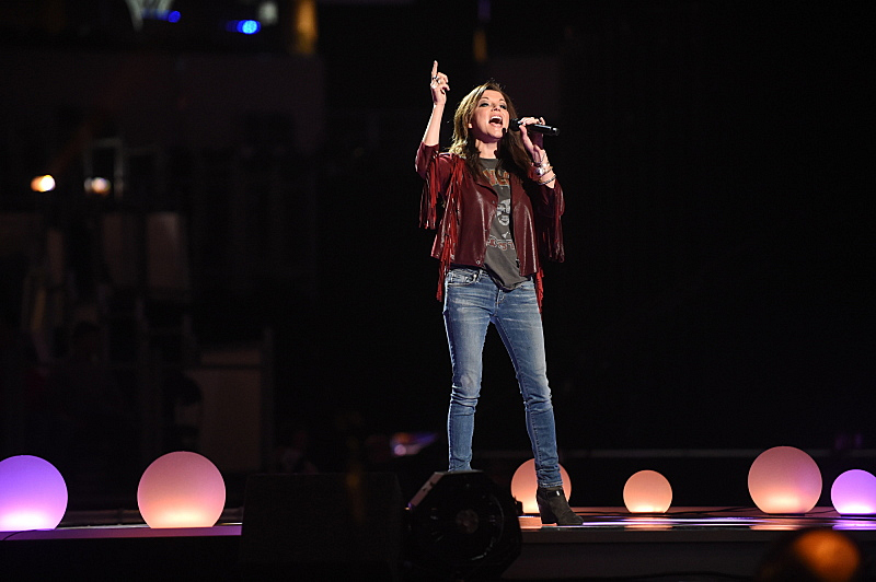 Martina McBride belts one out during the ACM Awards rehearsal.