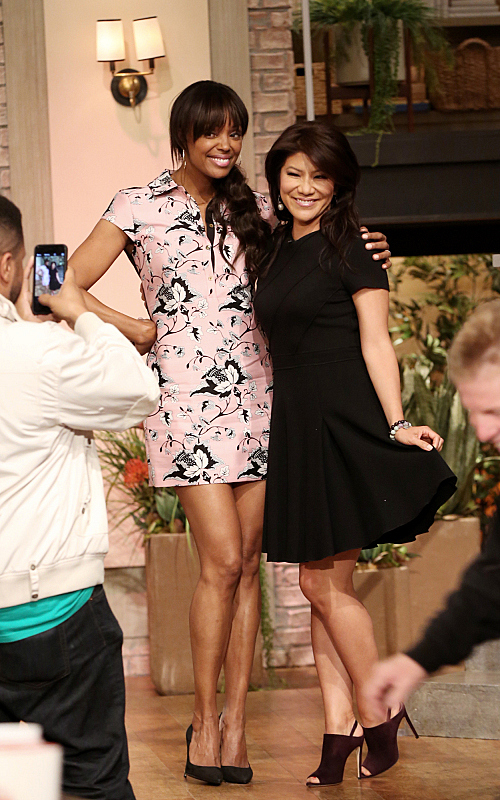 Aisha Tyler and Julie Chen