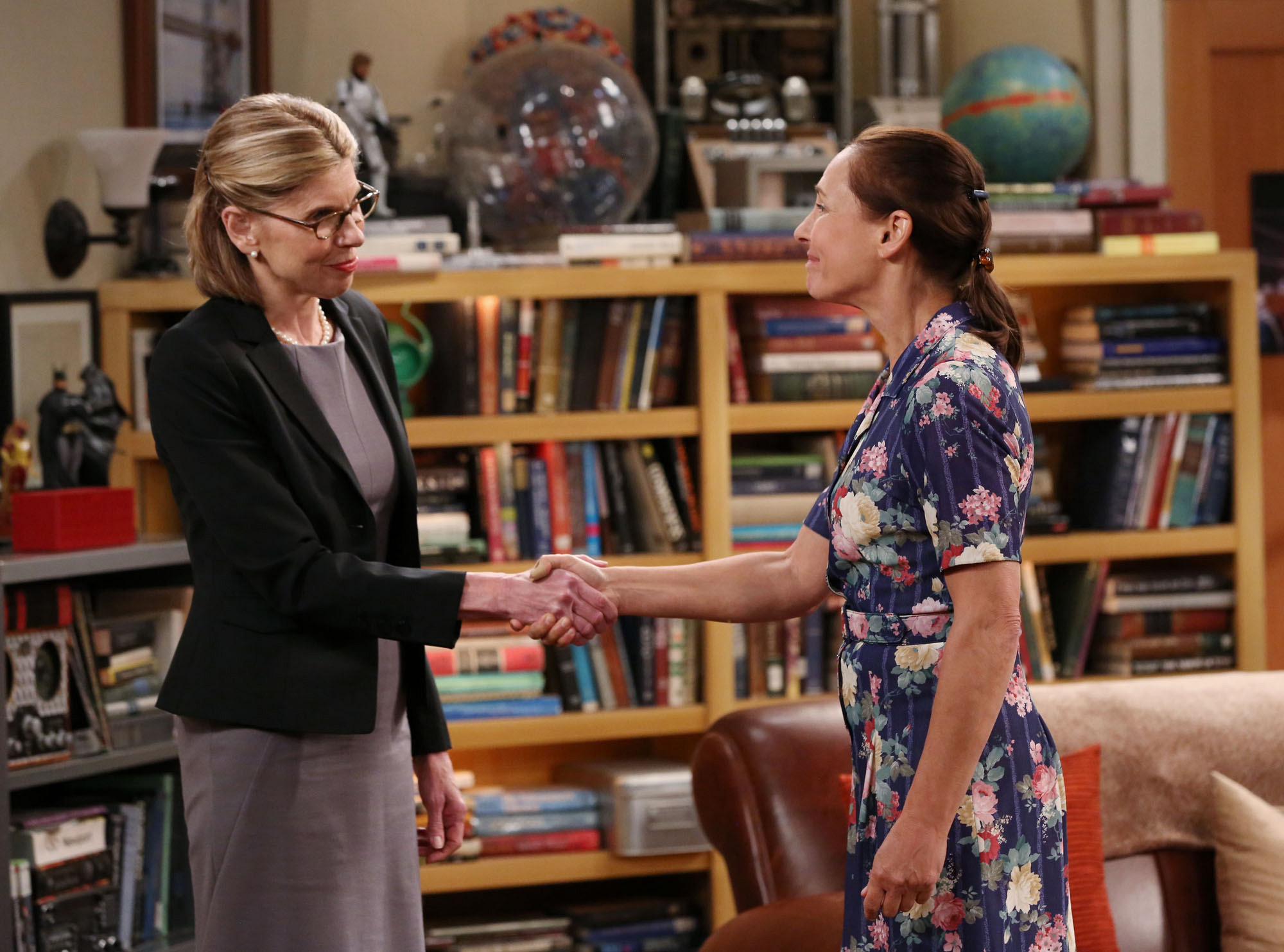 Christine Baranski and Laurie Metcalf guest star