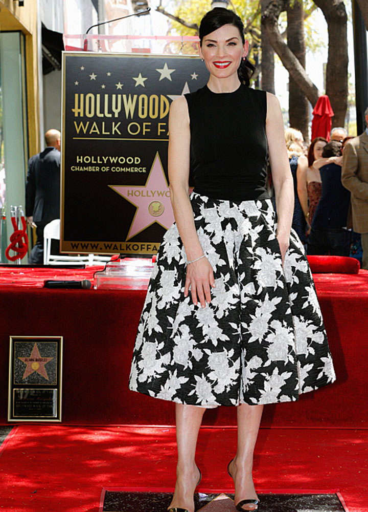 Julianna Margulies was honored with a Hollywood Walk of Fame star.