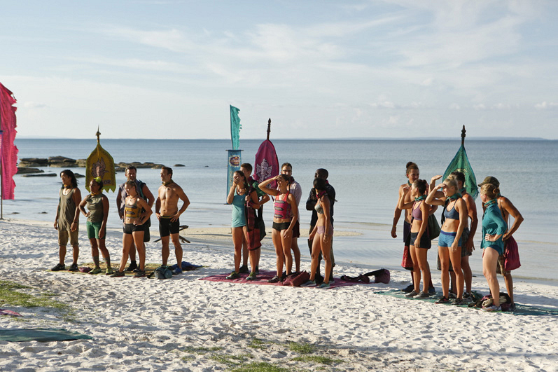 The castaways get ready for an epic Reward Challenge