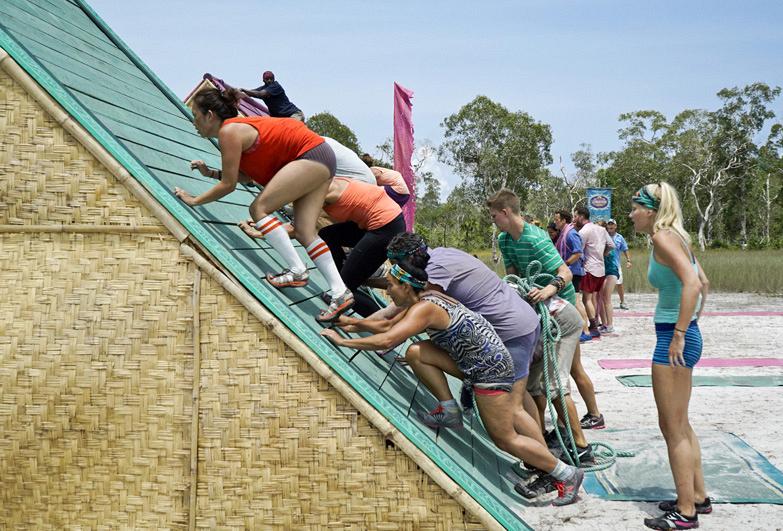 The castaways get to climbing
