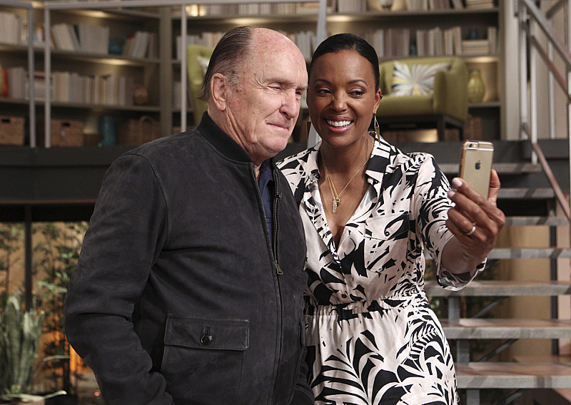 Robert Duvall and Aisha Tyler