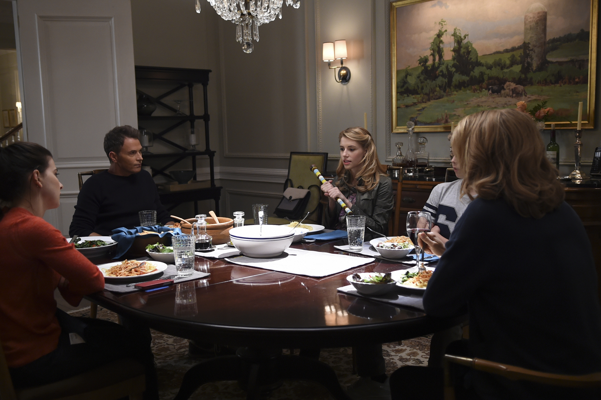 "Kathrine Herzer as Alison McCord, Tim Daly as Henry McCord, Wallis Currie-Wood as Stephanie ""Stevie"" McCord, Evan Roe as Jason McCord, and Téa Leoni as Elizabeth McCord"