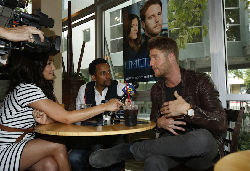 Actors Hill Harper And Jake McDorman At The Limitless Cafe