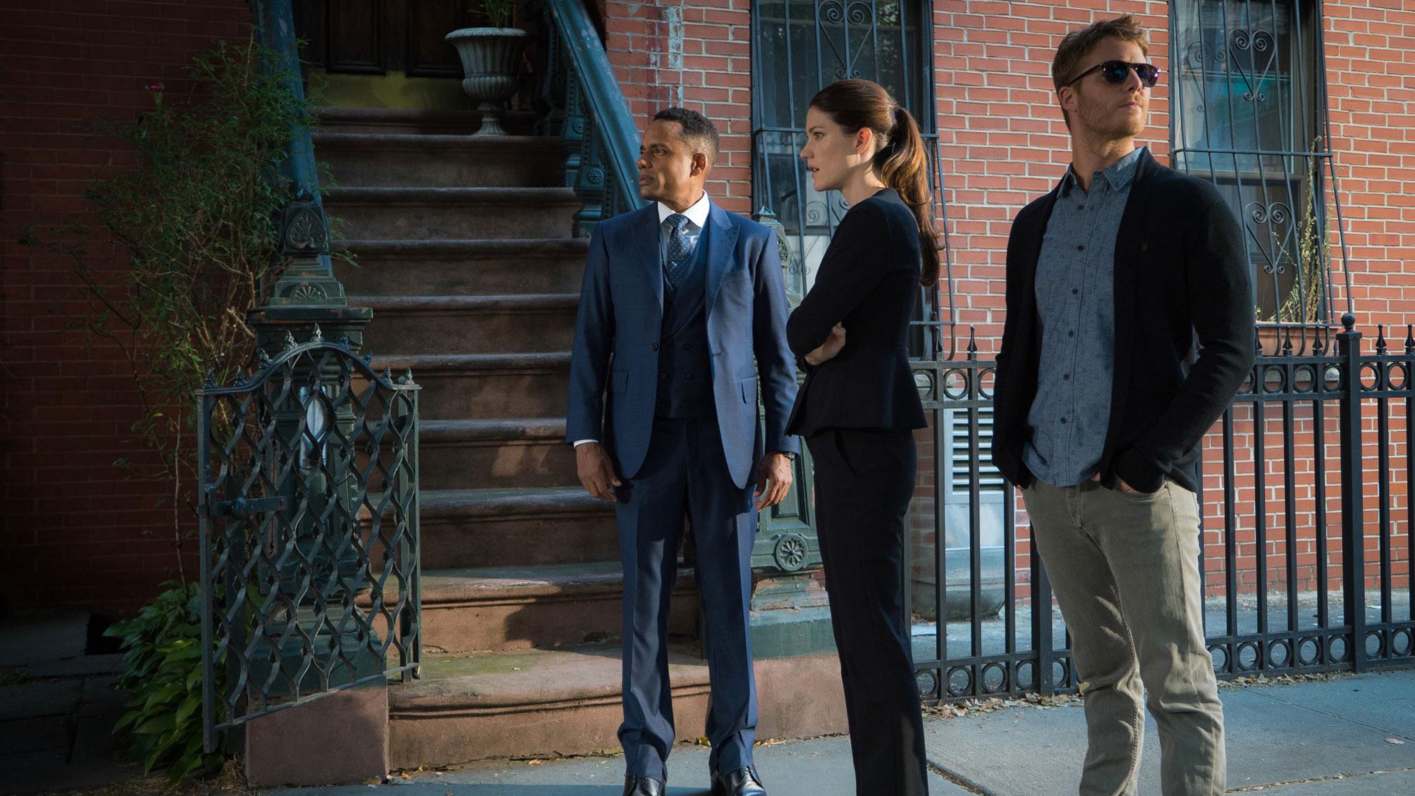 Hill Harper as Agent Spelman Boyle, Jennifer Carpenter as Agent Rebecca Harris, and Jake McDorman as Brian Finch