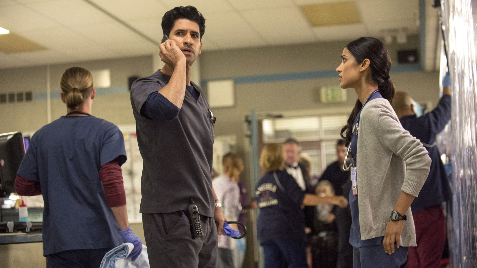 Raza Jaffrey as Dr. Neal Hudson and Melanie Chandra as Dr. Malaya Pineda
