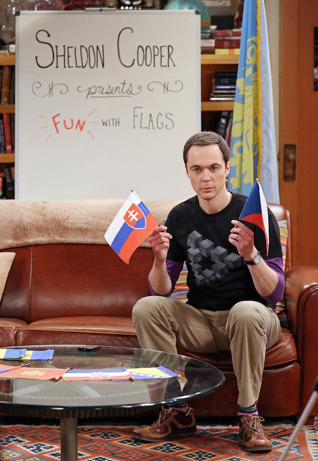 "Sheldon hosts a themed episode of ""Fun With Flags"""