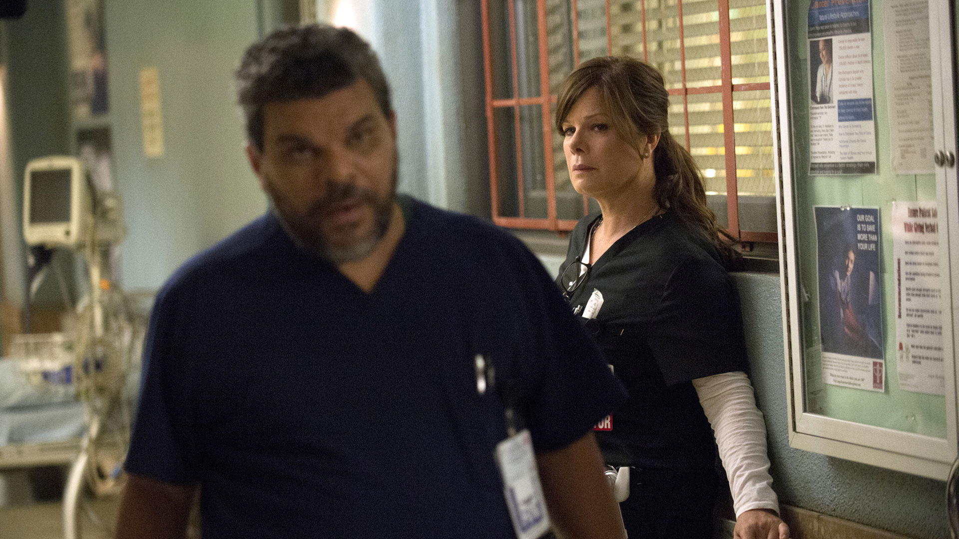 Luis Guzmán as Jesse Sallander and Marcia Gay Harden as Dr. Leanne Rorish