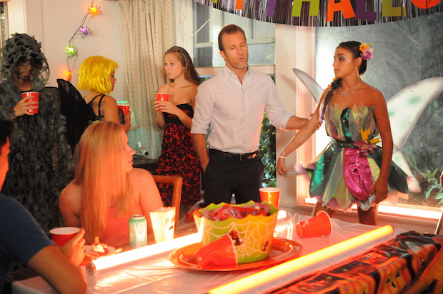 "Scott Caan as Danny ""Danno"" Williams and Teilor Grubbs as Grace Williams"