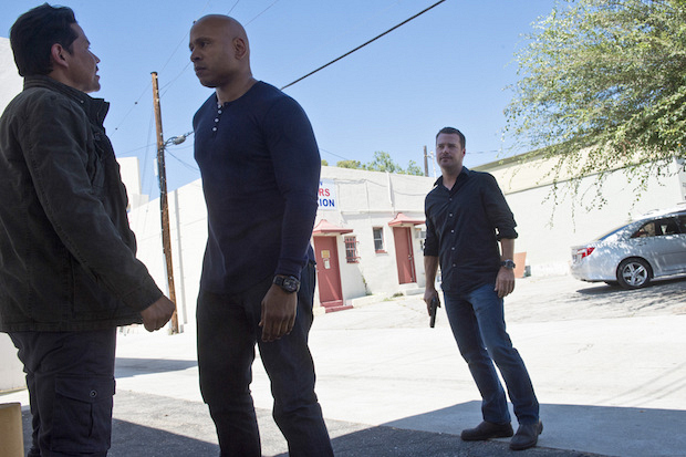 LL COOL J as Special Agent Sam Hanna and Chris O'Donnell as Agent G. Callen