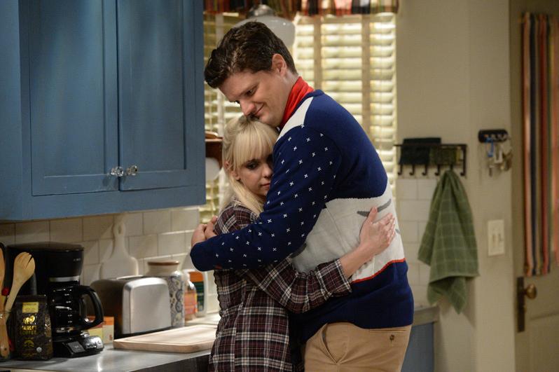 Christy gives her ex a hug.