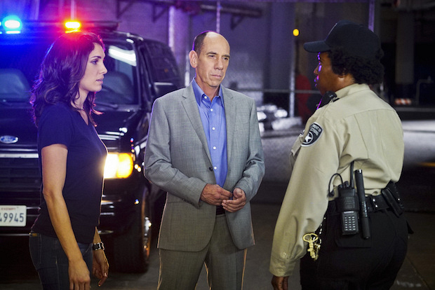 Daniela Ruah as Kensi Blye and Miguel Ferrer as Owen Granger