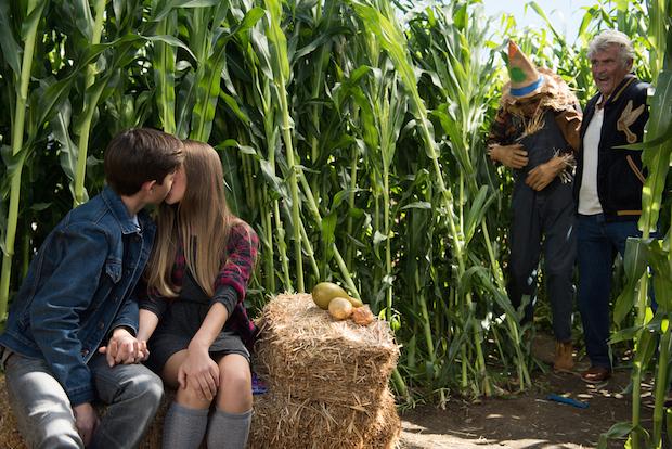 John catches Samantha kissing her boyfriend, Aiden
