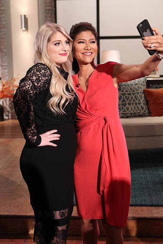Meghan Trainor and Julie Chen