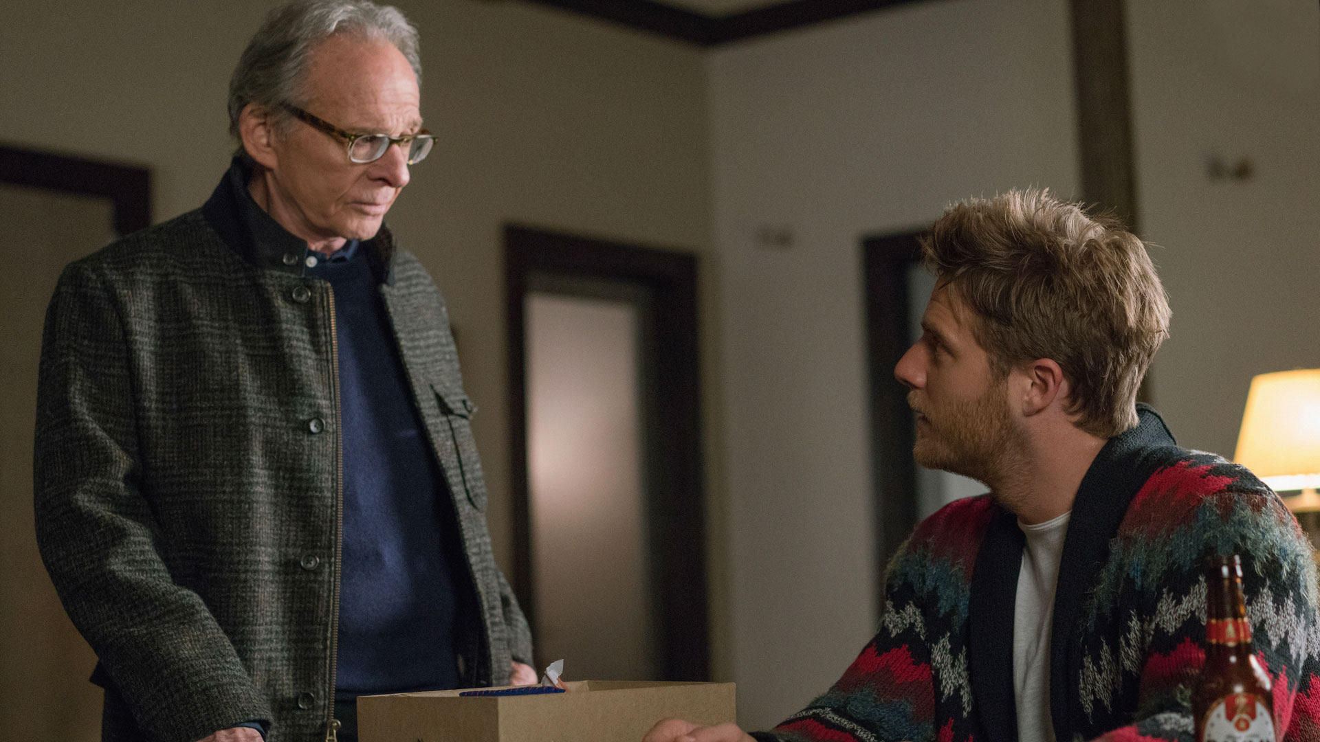 Ron Rifkin as Dennis Finch and Jake McDorman as Brian Finch