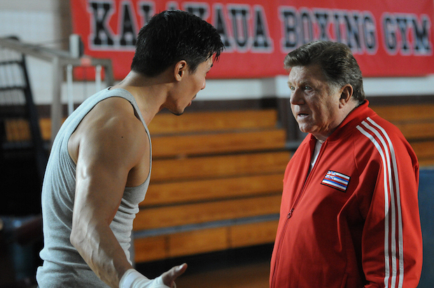 "Lewis Tan as Luke Nakano and Larry Manetti as Nicky ""The Kid"" DeMarco"