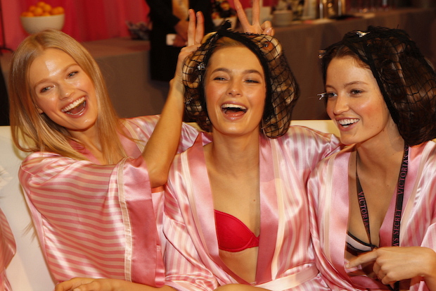 40 cans of Victoria's Secret hairspray were on hand backstage