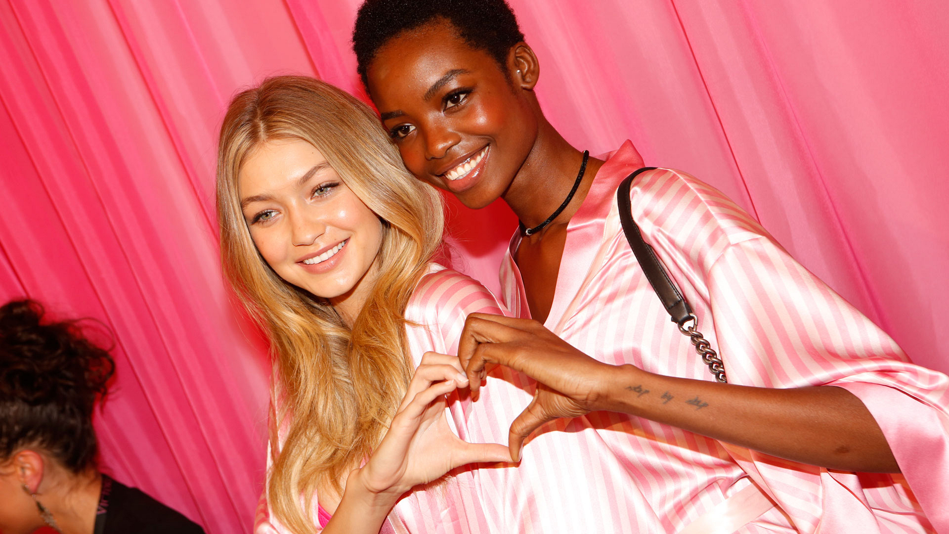 Gigi Hadid and Maria Borges are two halves of the same heart-shaped whole