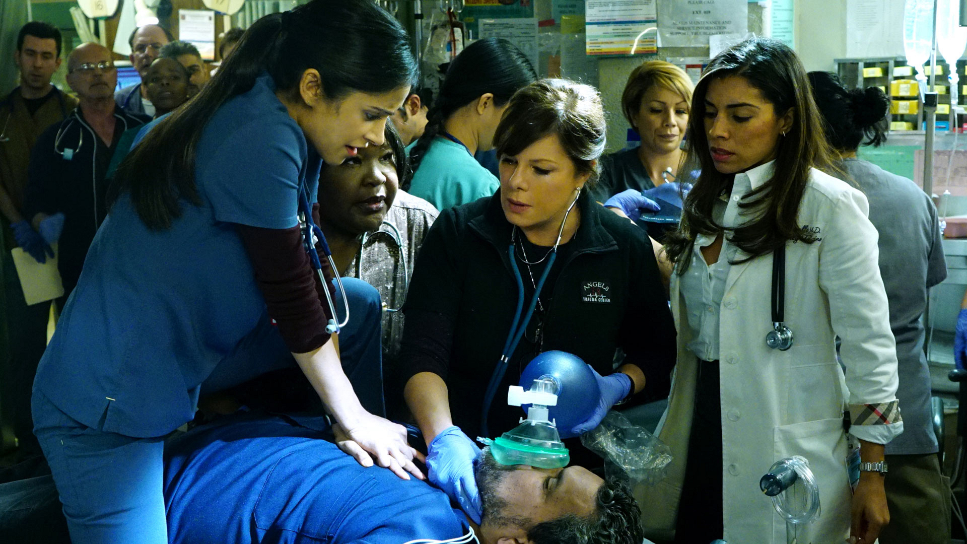 Melanie Chandra as Dr. Malaya Pineda and Marcia Gay Harden as Dr. Leanne Rorish