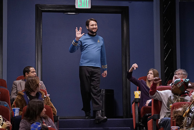 Wil Wheaton dresses in costume for opening night of Star Wars.