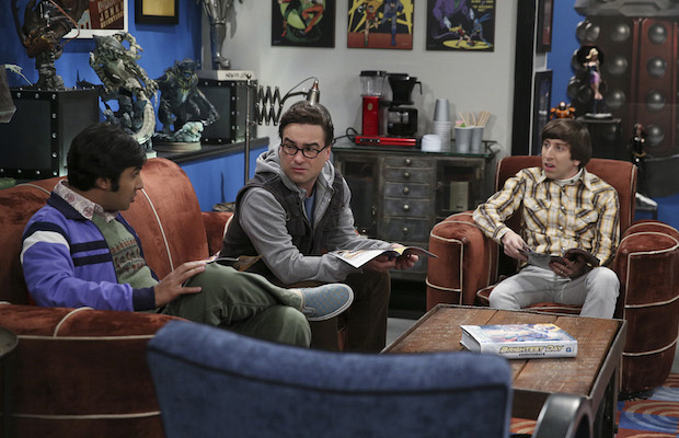 Raj, Leonard, and Howard strategize their plan of attack for Star Wars.