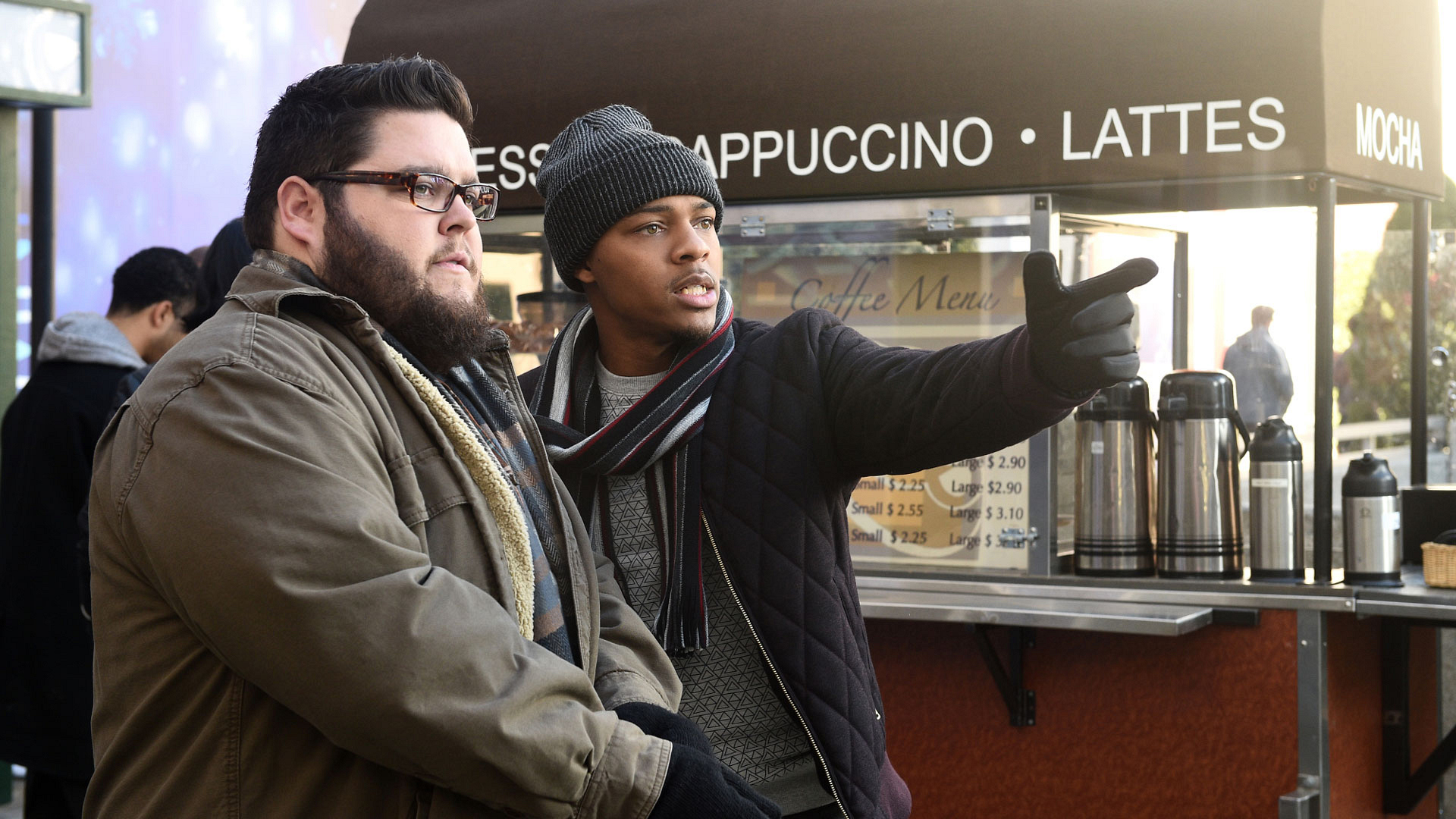 Charley Koontz as Agent Daniel Krumitz and Shad Moss as Brody Nelson